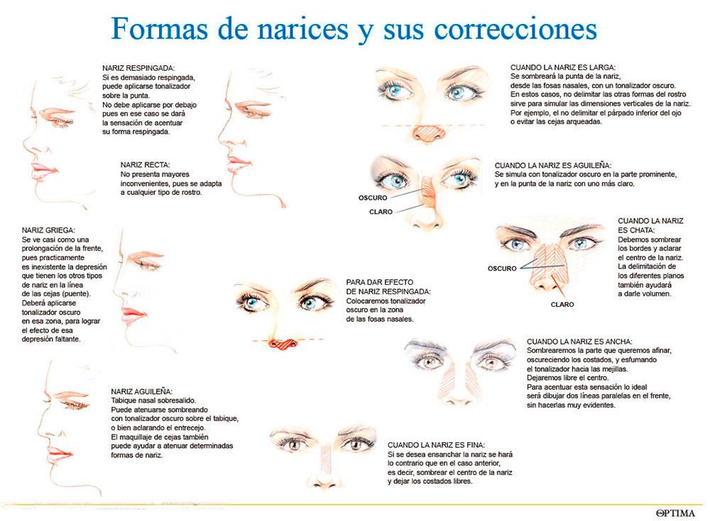 Correcciones de narices (maquillaje)